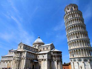 Пизанская башня.Фотография Пизанской башни в итальянском городе Пиза