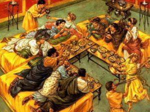 Римский пир в самом разгаре