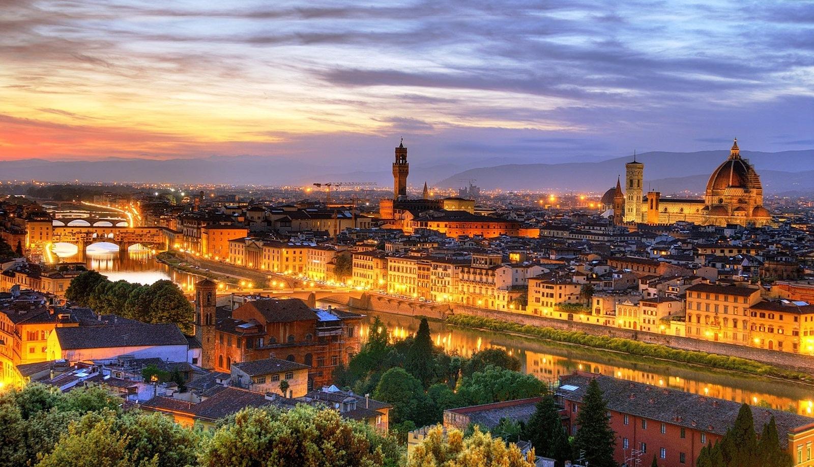 Флоренция. Вид на город.