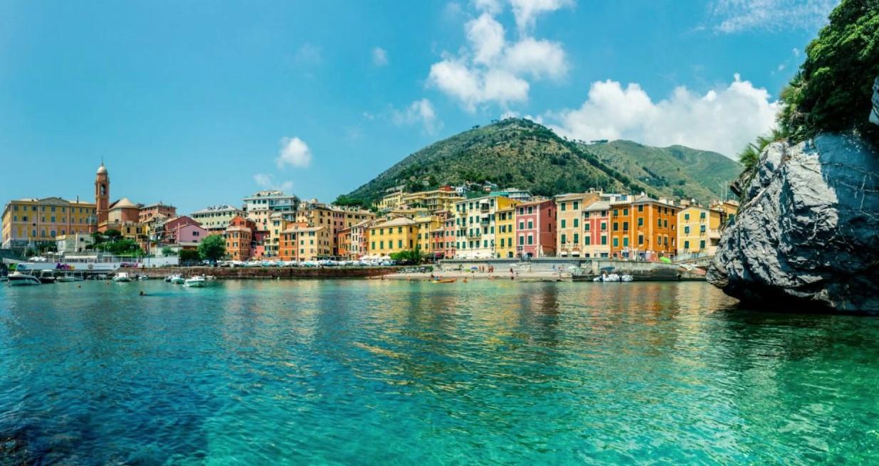 Италия Генуя Нерви Вид на набережную