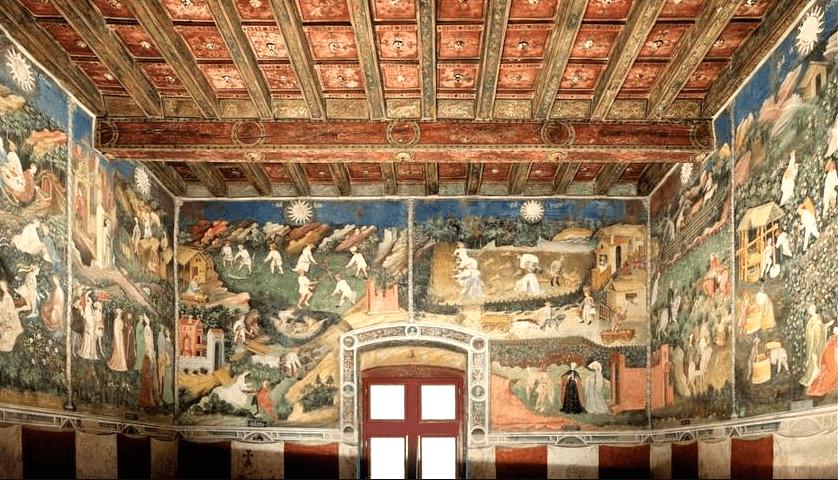 Италия. Готические фрески. Тренто. 15 век.