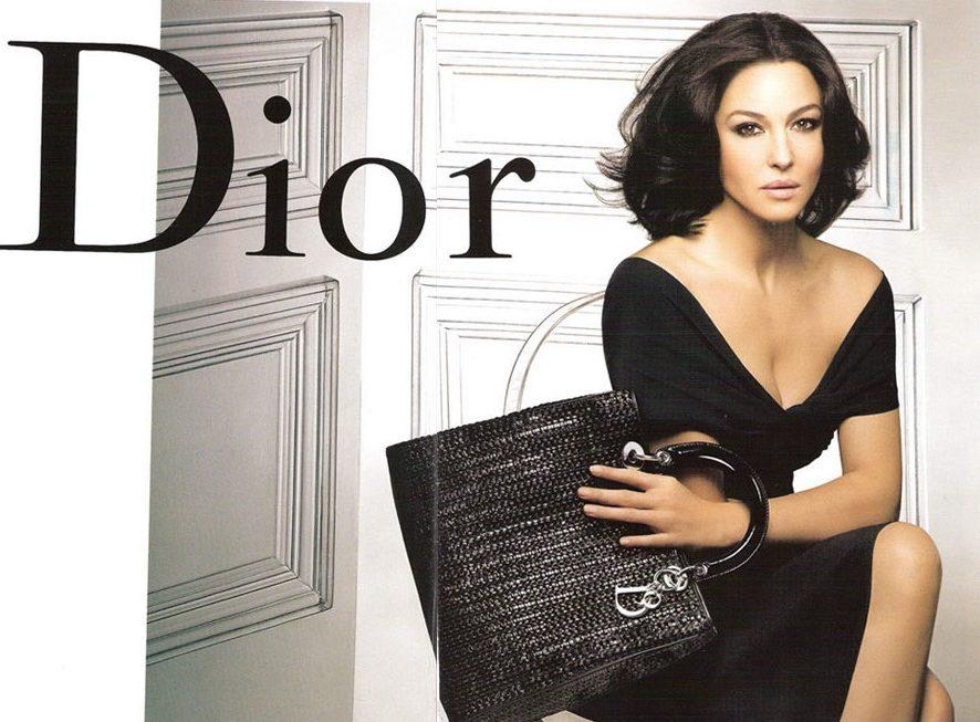Dior. Одежда. Сумочка.Моника Беллуччи